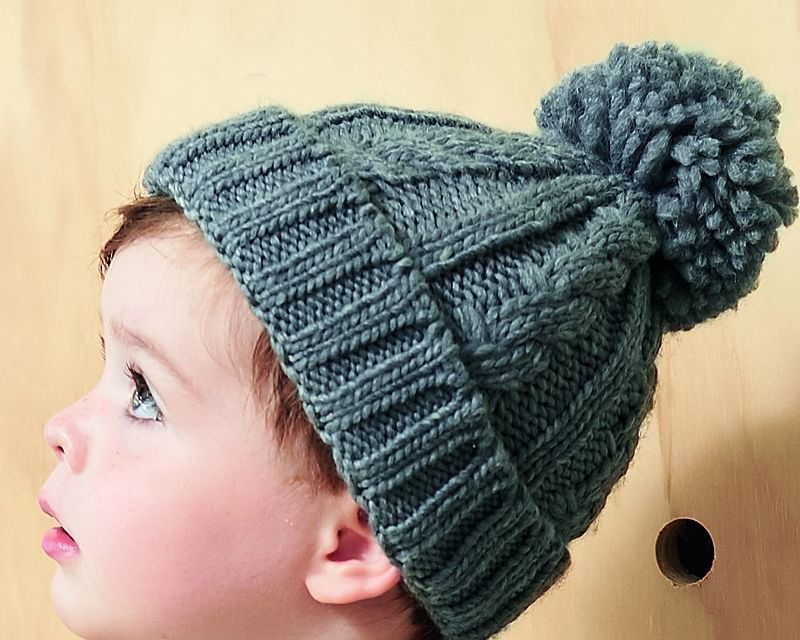 ínfant Cable Knit Melange Beanie