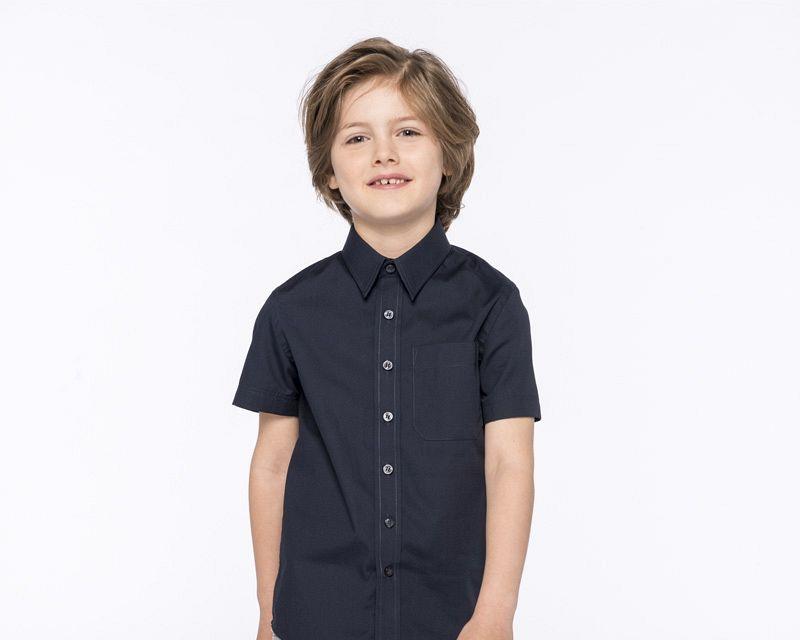 Camisa Popelina M/corta Niños