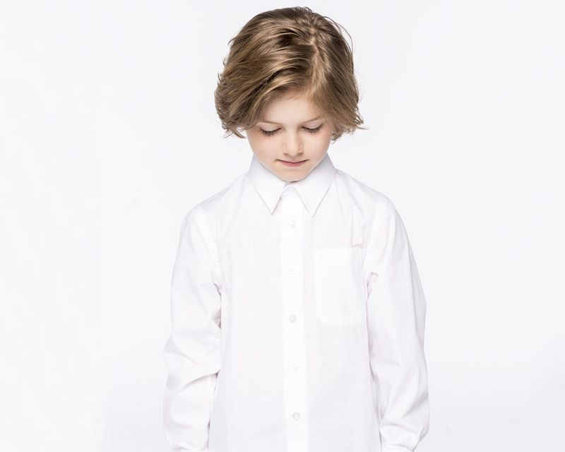 Camisa Popelina M/larga Niños