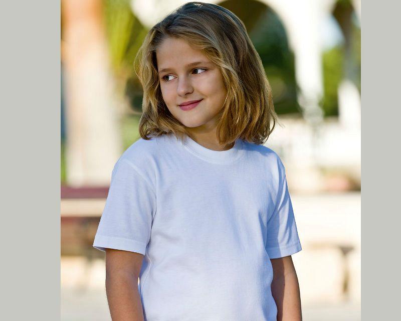 Camiseta Organica para Niños White