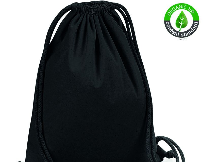 Organic Cotton Premium Gymsack ín Natural