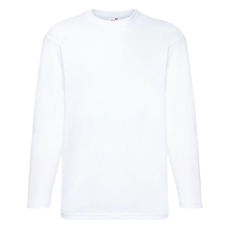 Camiseta Valueweight manga larga White