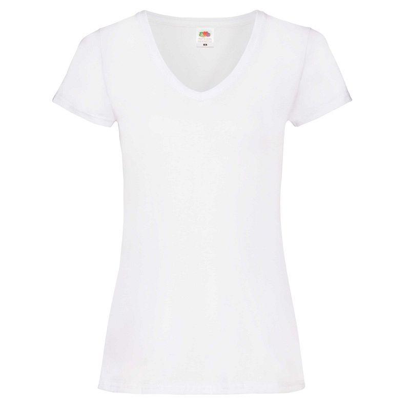 Valueweight Mujer Cuello Pico White