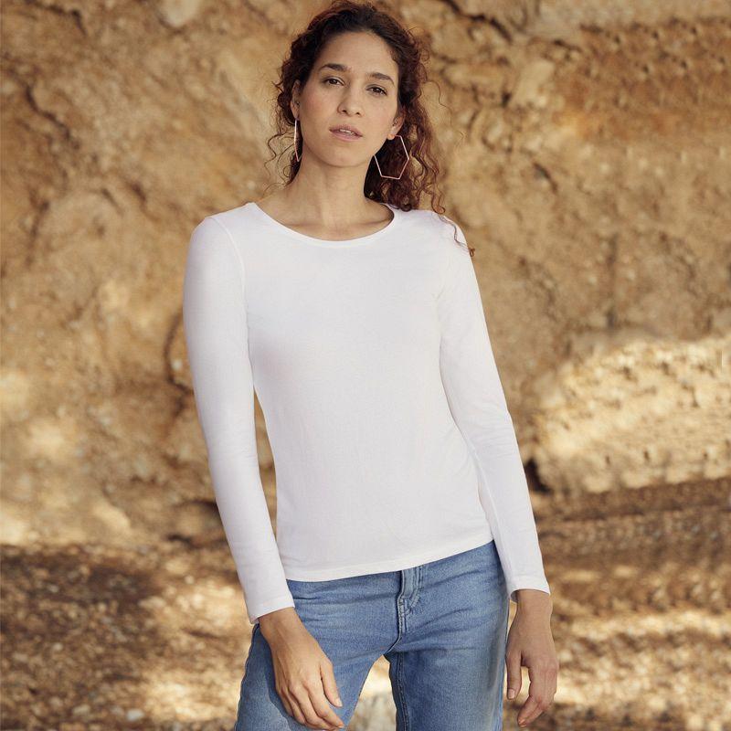 Camiseta Valueweight manga larga Mujer White