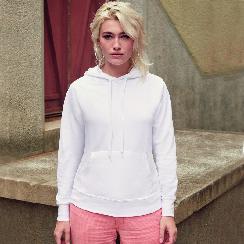 Lightweight Hooded Sweat Lady-fit
