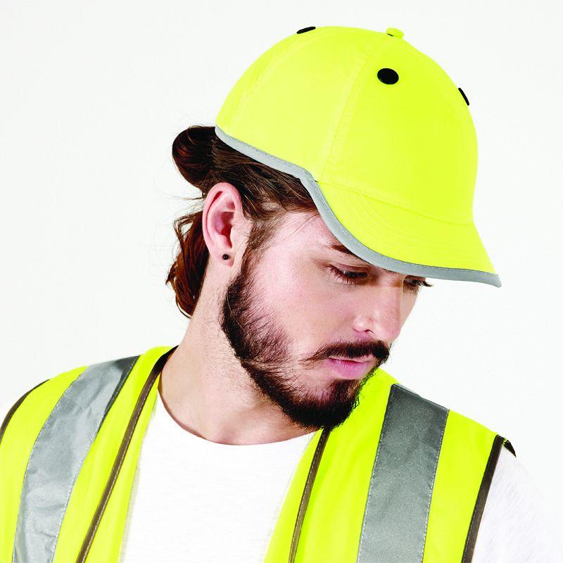 Gorra Solida de Visibilidad Realzada