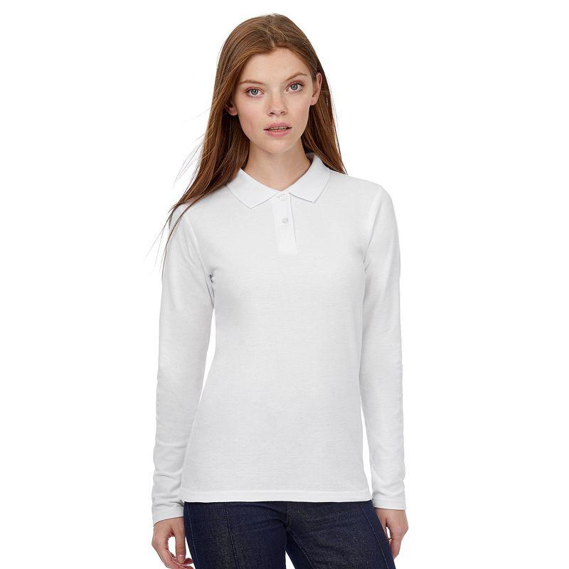 Polo Pique M/larga Women White