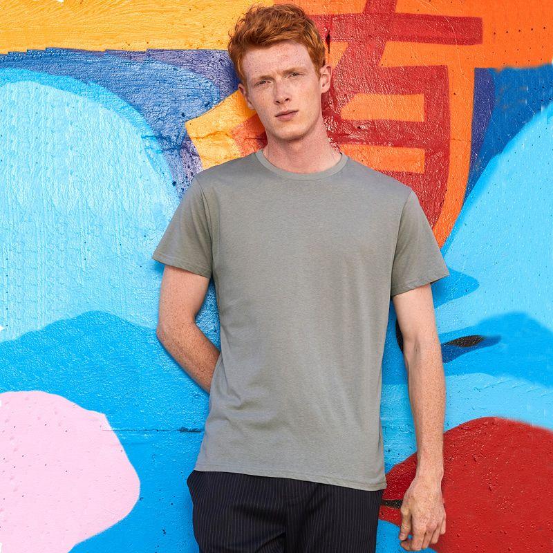 Camiseta Organica M/c entallada Hombre White