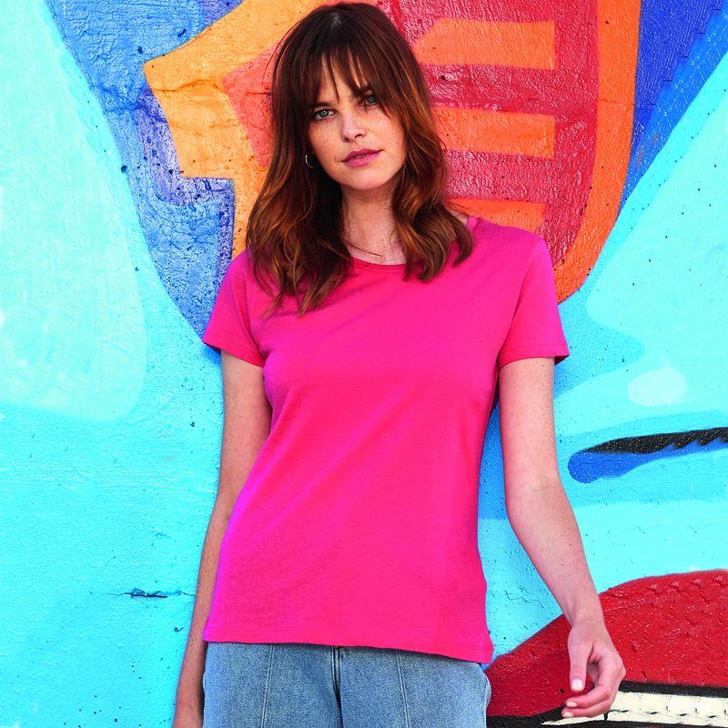 Camiseta Organica M/c entallada Mujer