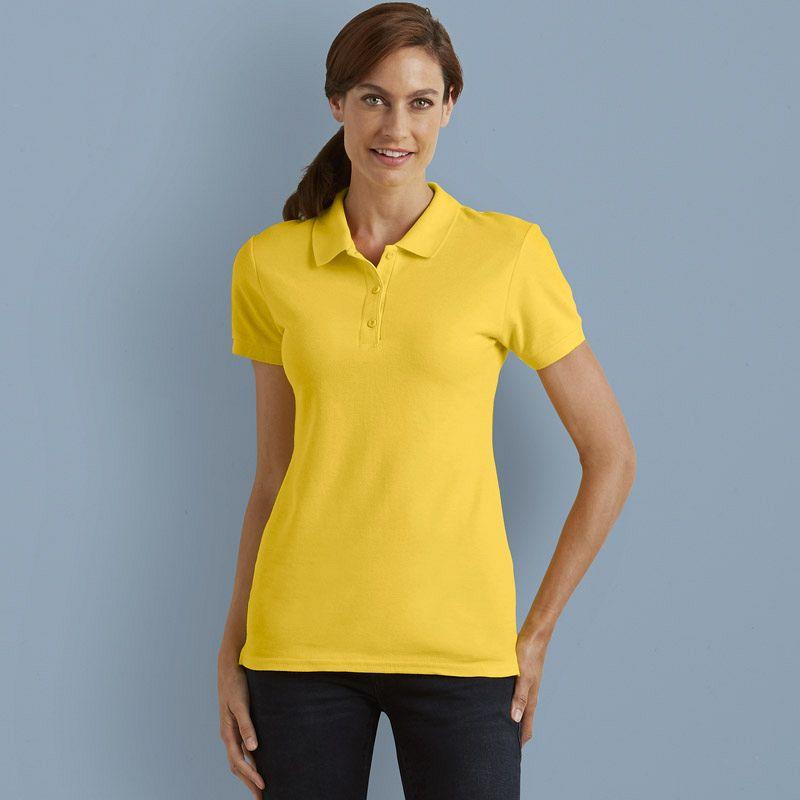 Short Sleeve Women Polo Pique