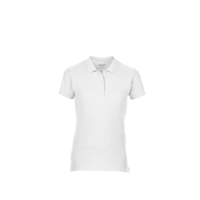 Polo Pique M/c Mujer White