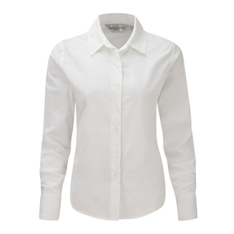 Camisa de Sarga manga larga Mujer