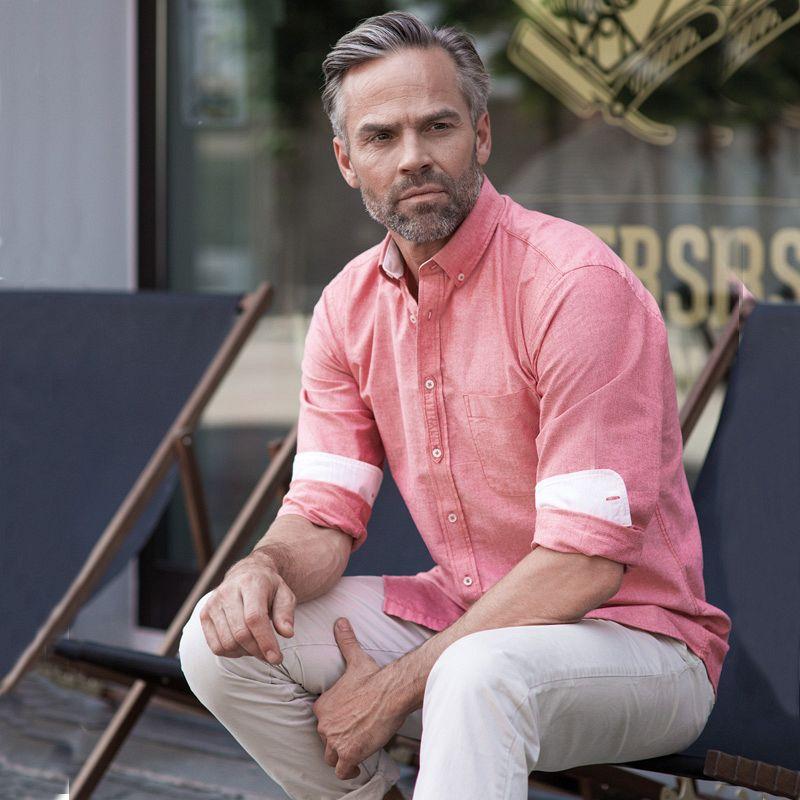 Camisa Orgánica M/larga Oxford Hombre