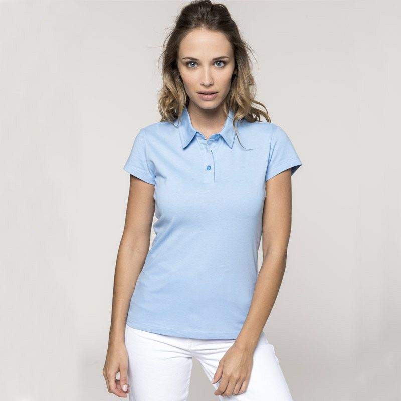 Polo Jersey Punto Liso Mujer