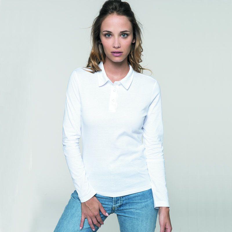 Polo Jersey M/larga Mujer