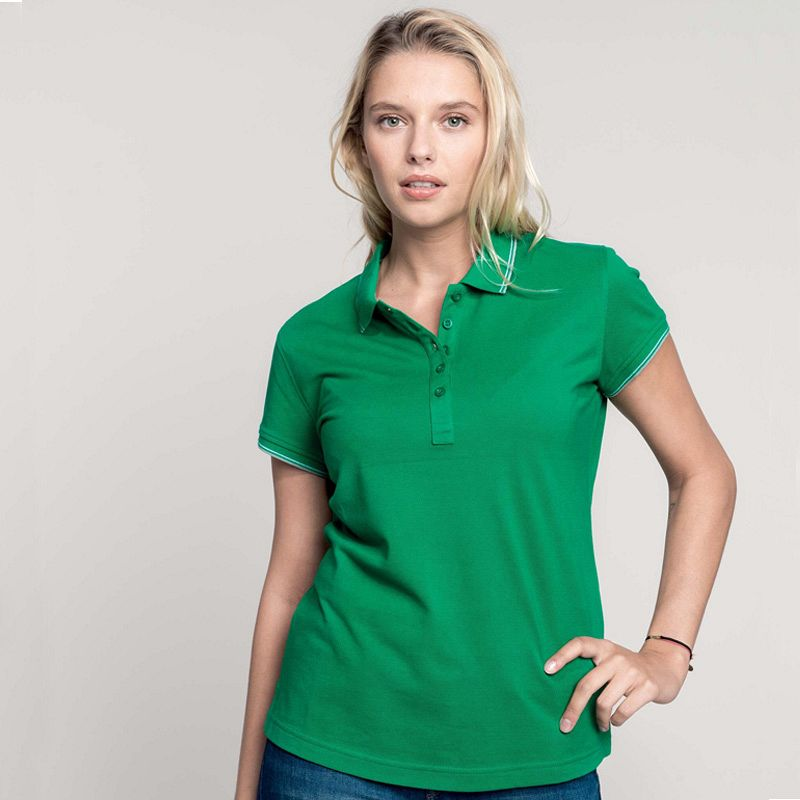 Polo Pique M/c Mujer