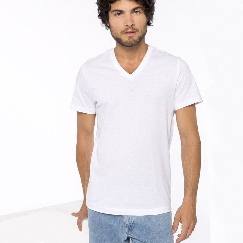 Camiseta Cuello Pico Color