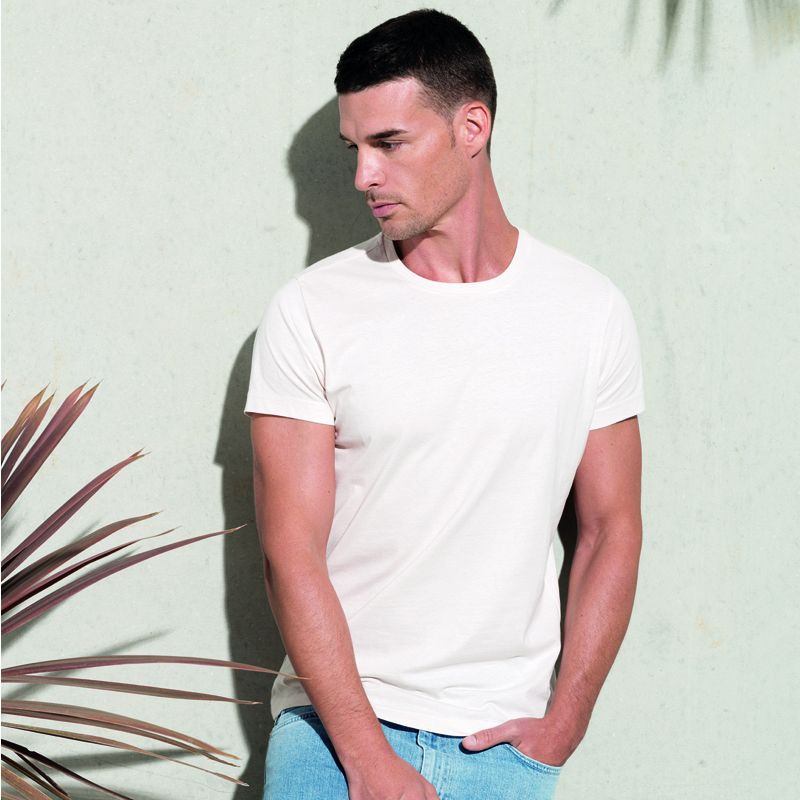 Camiseta Organica Cuello Redondo White