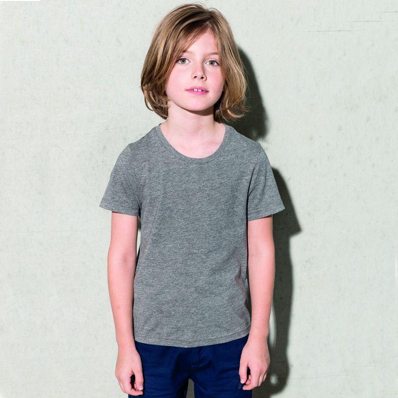 Camiseta Orgánica Cuello Redondo Niño White