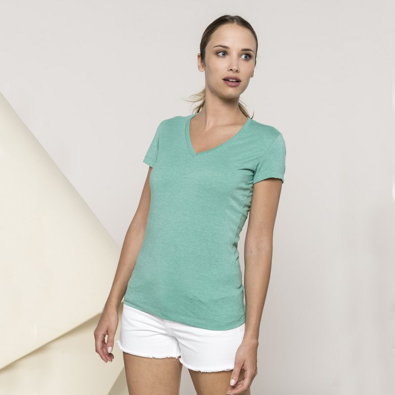 Camiseta V-neck Mujer