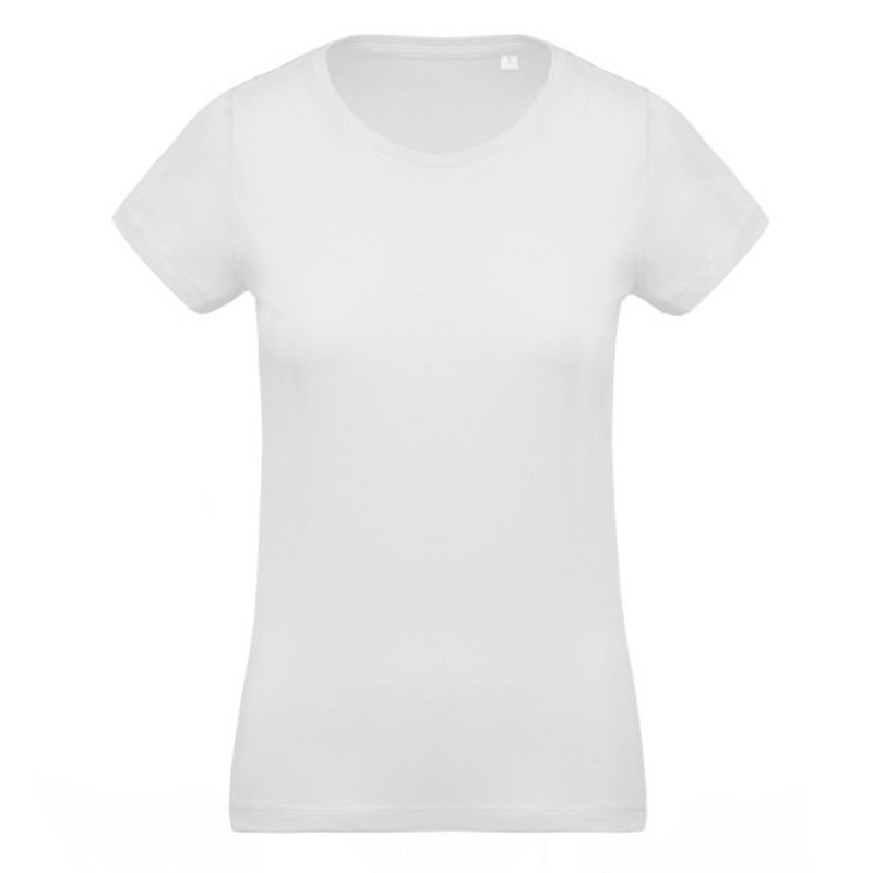 Camiseta Organica Cuello Redondo Mujer White