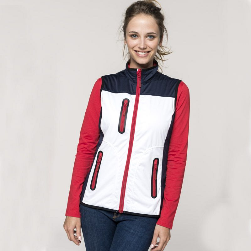 Chaleco Softshell Tricolor Mujer