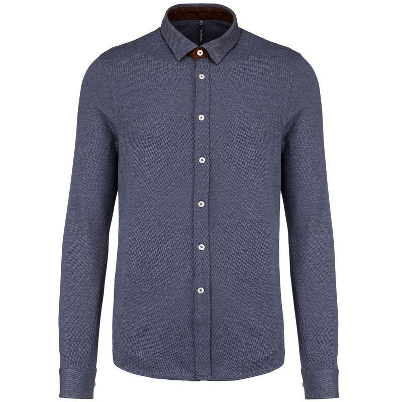 Camisa Jacquard M/larga