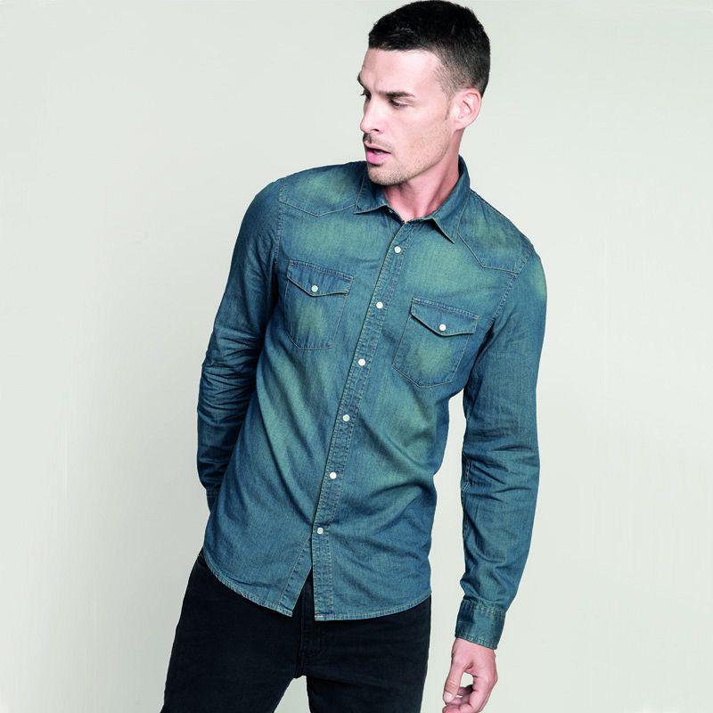 Camisa Denim M/larga Hombre