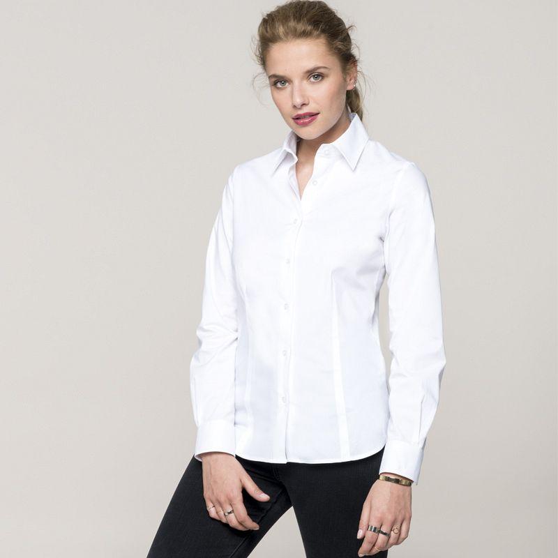 Camisa M/larga entallada Mujer