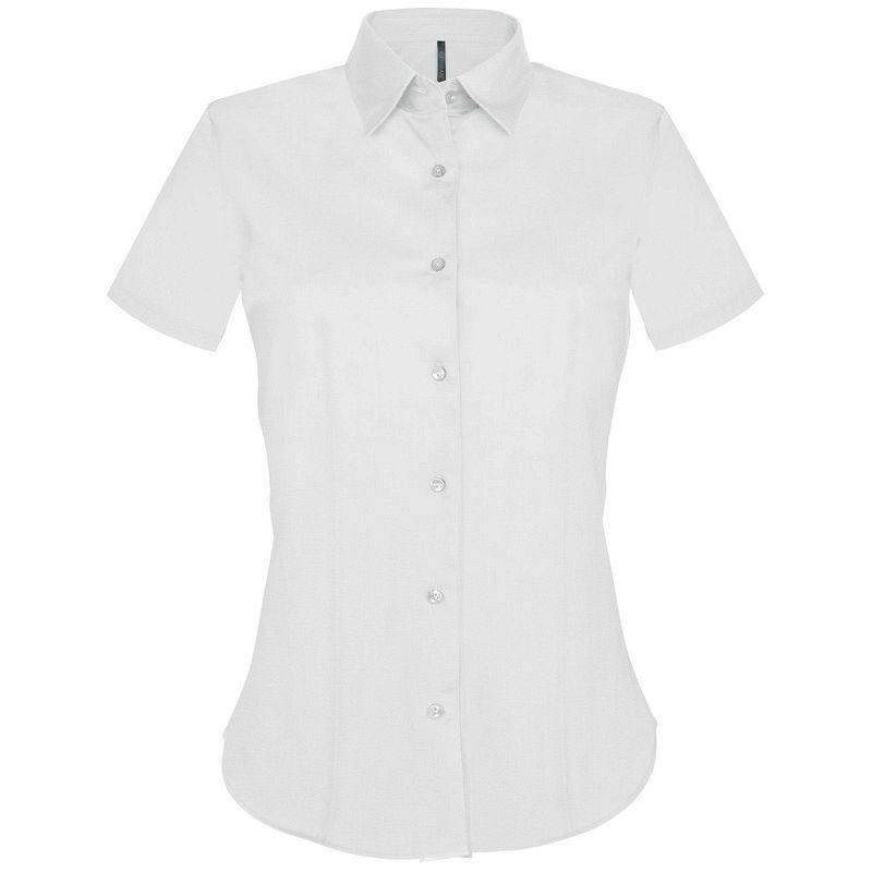 Camisa manga corta entallada Mujer