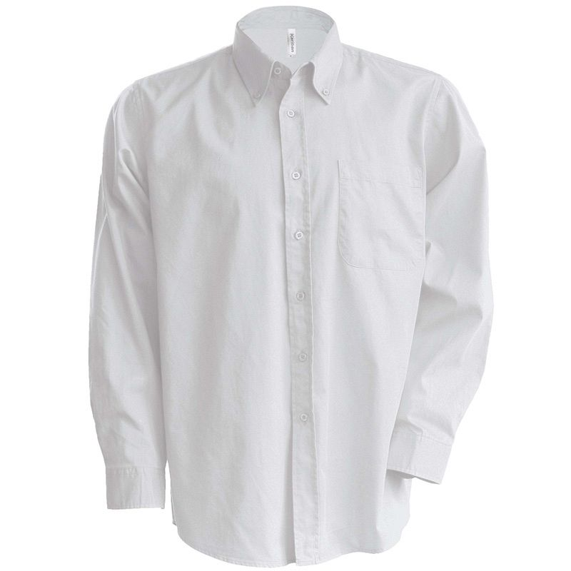 Camisa Oxford manga larga White