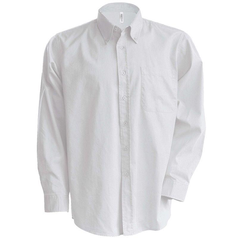 Camisa Oxford manga larga White