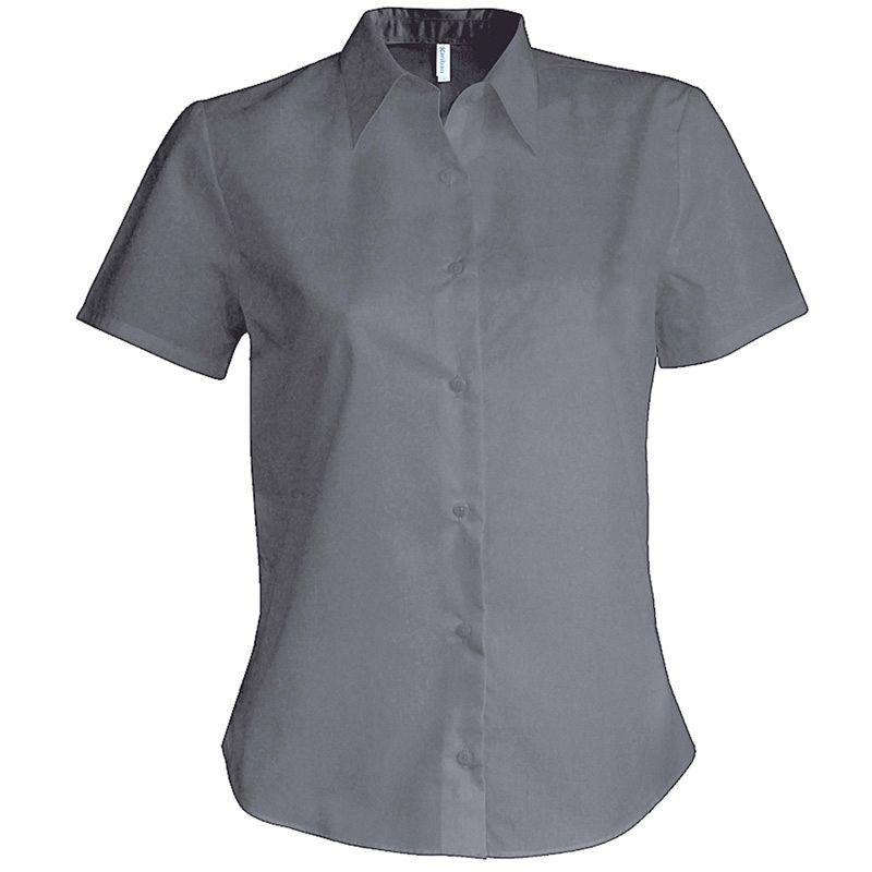 Camisa Oxford manga corta Mujer