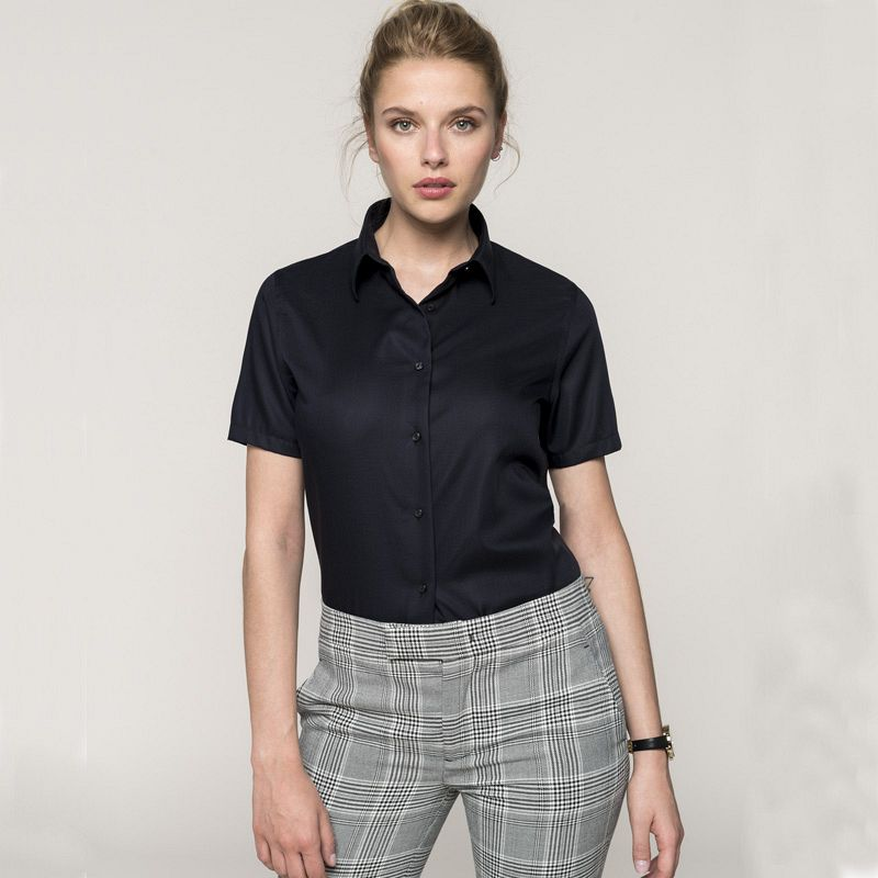 Camisa manga corta Sarga Mujer