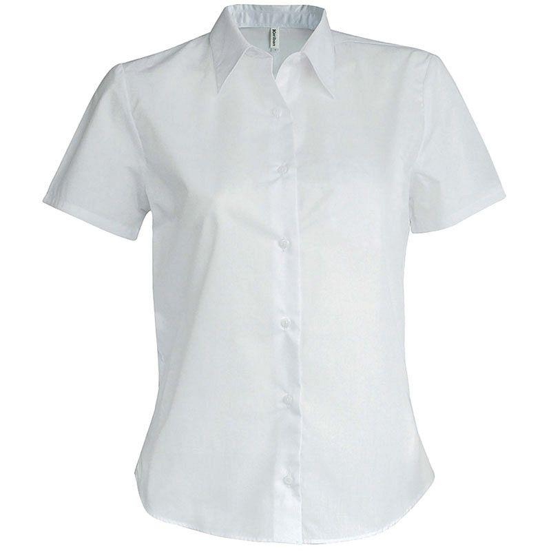 Camisa manga corta Sarga Mujer White