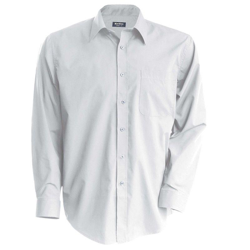 Camisa Popelina manga larga White