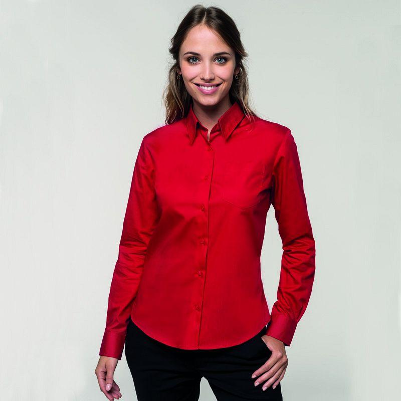 Camisa Popelina M/larga Mujer
