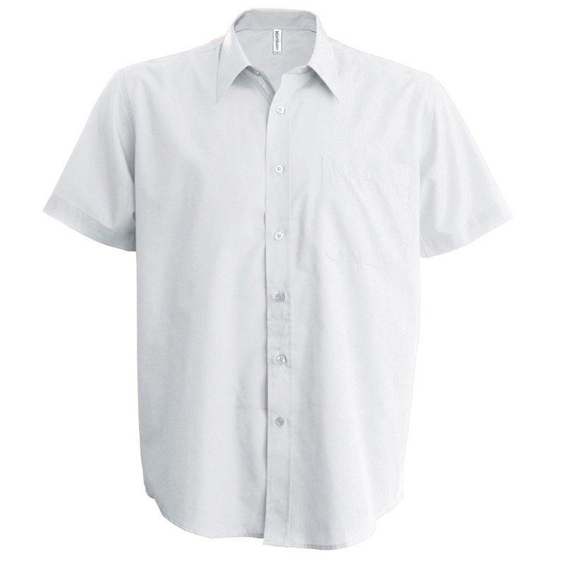 Camisa Popelina manga corta White