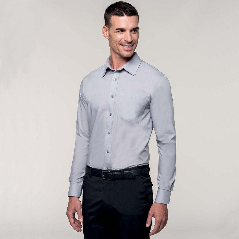 Camisa mezcla manga larga Jofrey White
