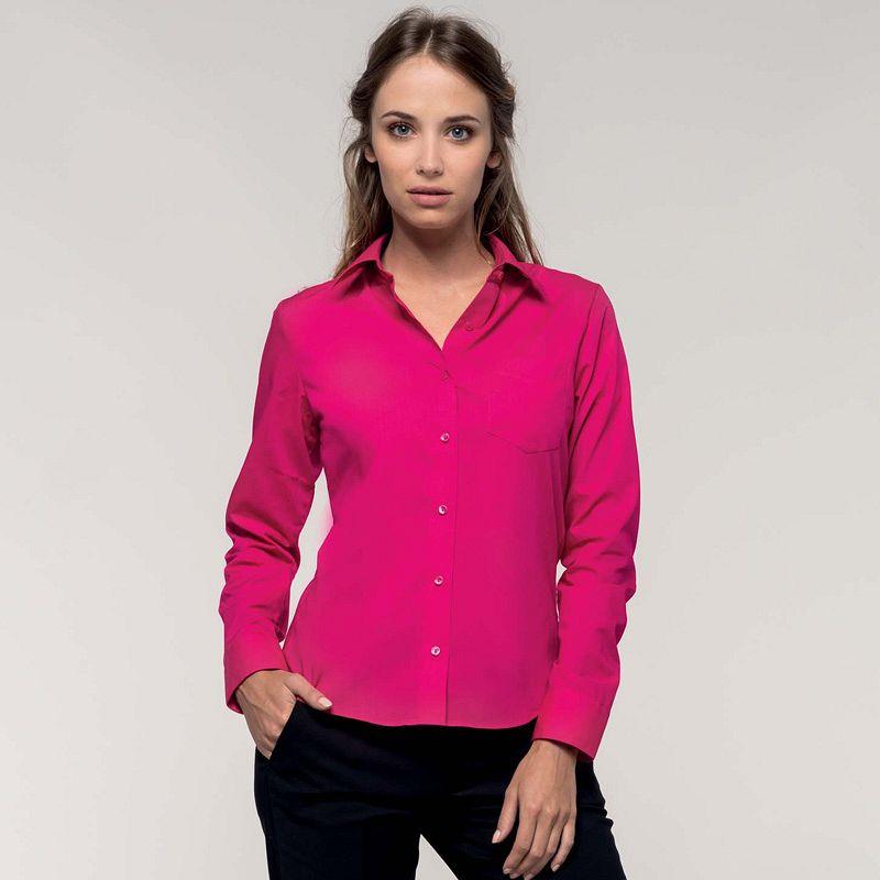 Camisa mezcla M/larga Jessica White