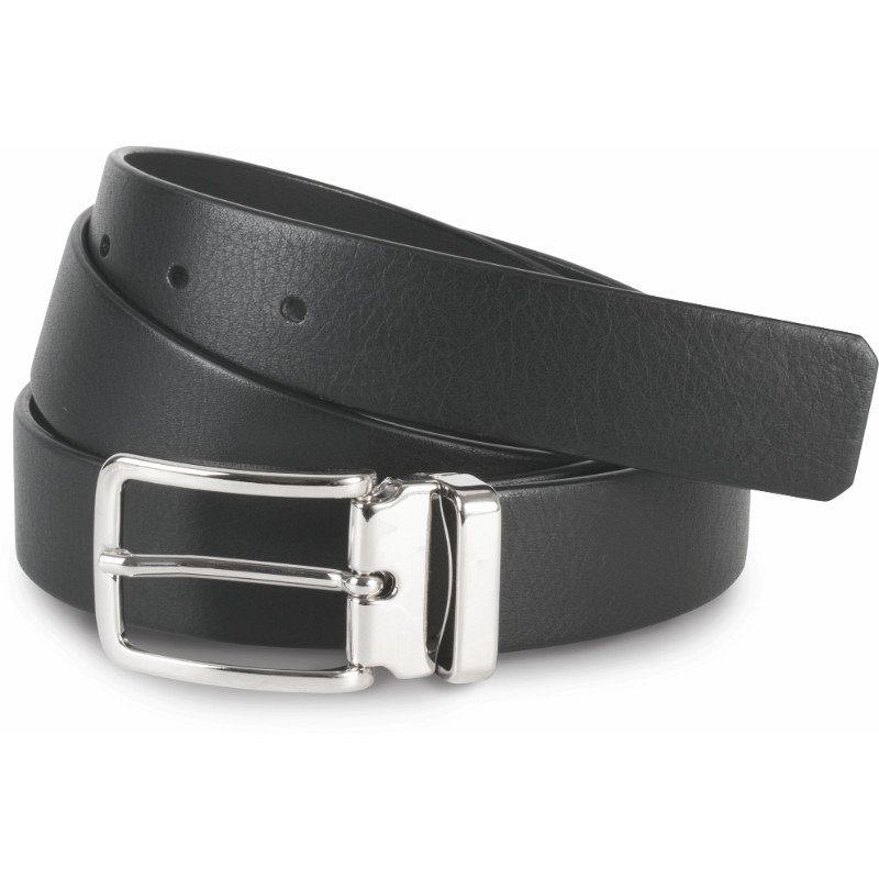 Cinturón Clásico En Piel Granulada - 30 Mm