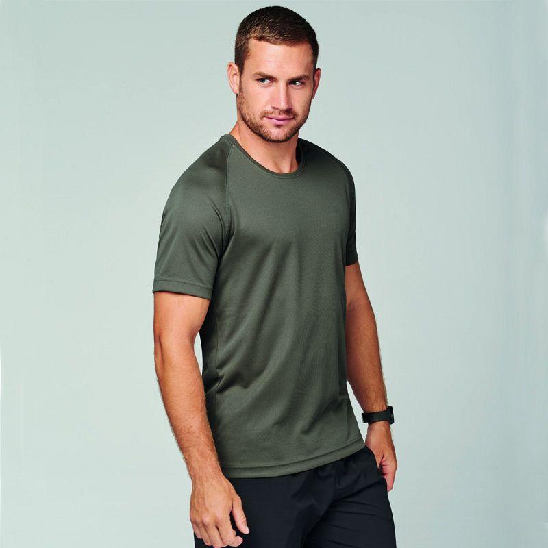 Camiseta M/corta Poliester Hombre Fluor