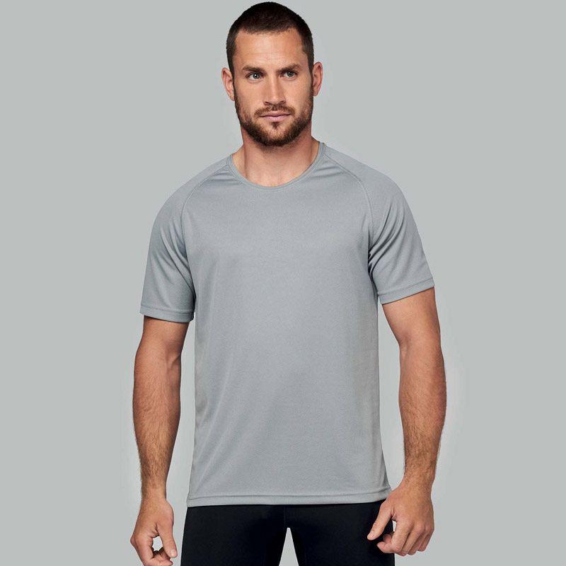 Camiseta M/corta Poliester Hombre White