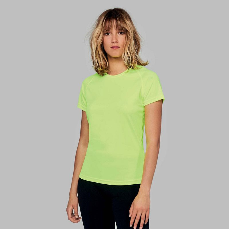 Camiseta M/corta Poliester Mujer Fluor