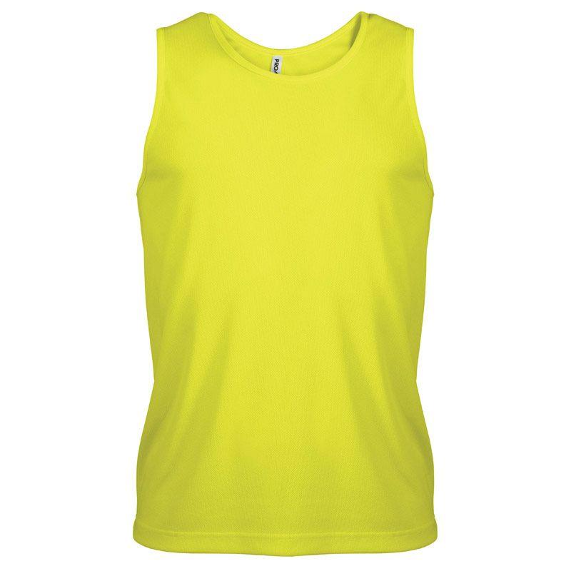 Camiseta sin Mangas Hombre Fluor