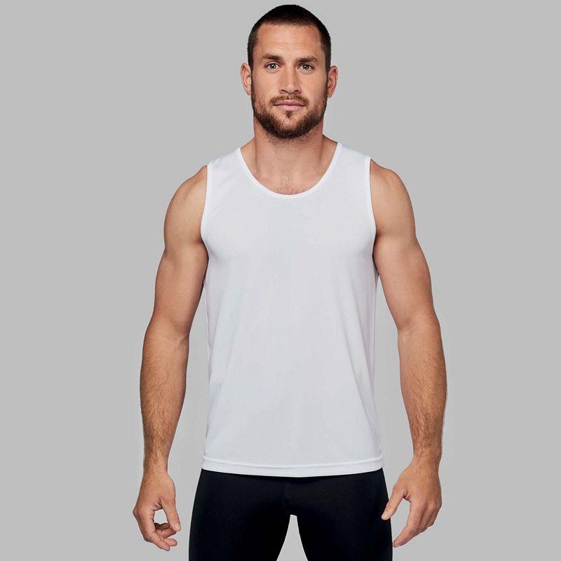 Camiseta sin Mangas Hombre White