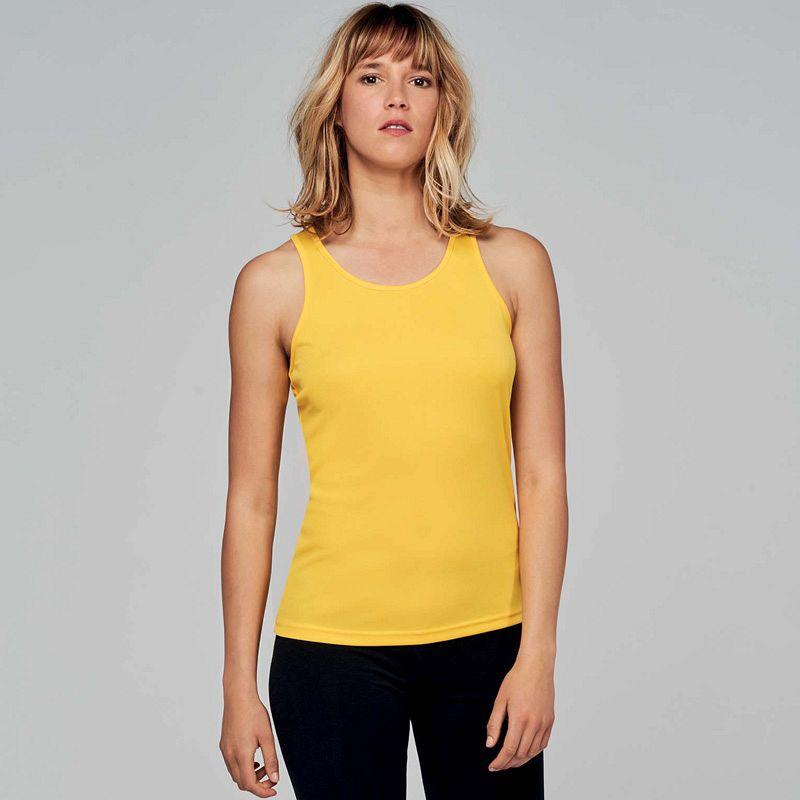 Camiseta sin Mangas Mujer Fluor