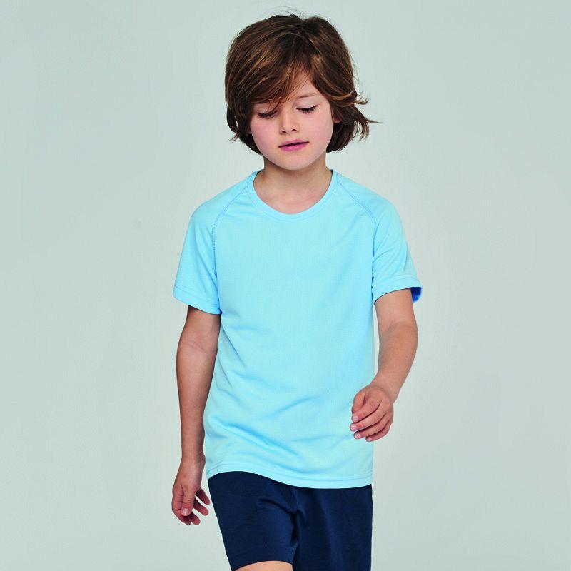Camiseta M/corta Poliester Niños White