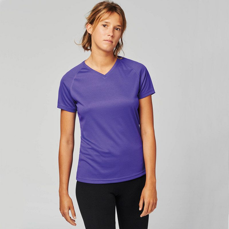 Camiseta Deporte Pico Mujer