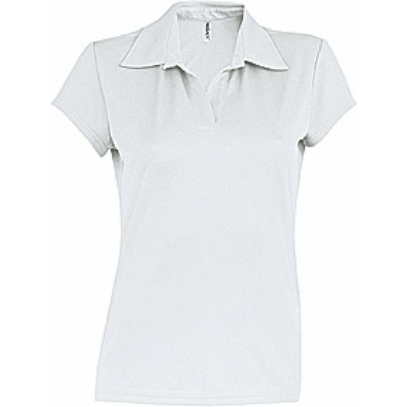 Polo Transpirable Mujer de Secado Rapido White